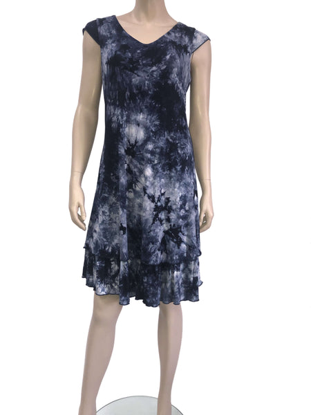Women's Dresses Canada | Navy Blue Layered Dress | XL Size Dresses | YM Style
