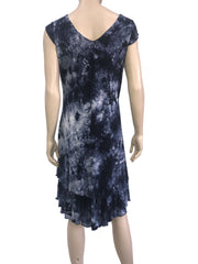 Women's Dresses Canada Blue Flattering Design V Neck Dress - Yvonne Marie - Yvonne Marie