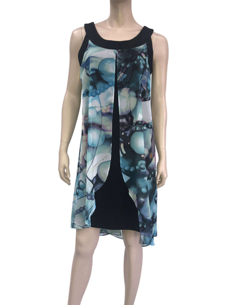 Women's Turquoise Print Dress