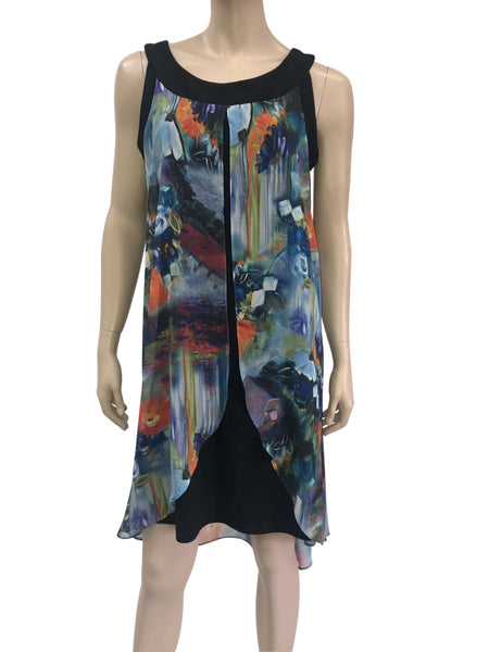 Women's Dresses Colorful Chiffon Flattering Design - Made in Canada