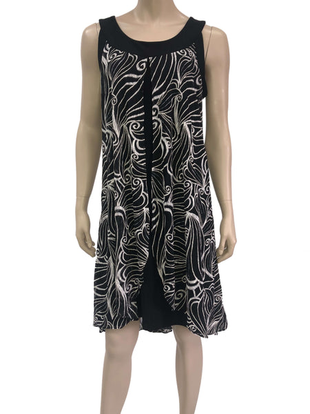 women's Dresses Canada | Black and White Lace Dress | XL Sizes | YM Style
