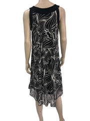 women's Dresses Canada | Black and White Lace Dress | XL Sizes | YM Style - Yvonne Marie