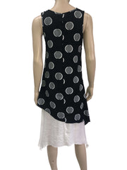 Women's Dresses Canada | Black Sleeveless Dress with Dots | On Sale | YM Style - Yvonne Marie