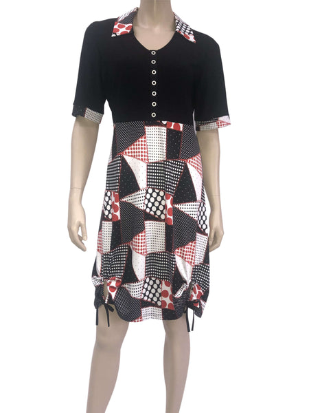 Women's Dresses Canada-Red and Black Fun Dress-Made In Canada-Shop Local
