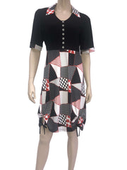 Women's Red and Black Dress - Yvonne Marie - Yvonne Marie
