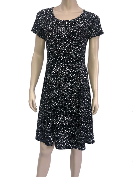 Women's Dresses Canada | Black Polka Dot Dress | On Sale | XL Size | YM Style