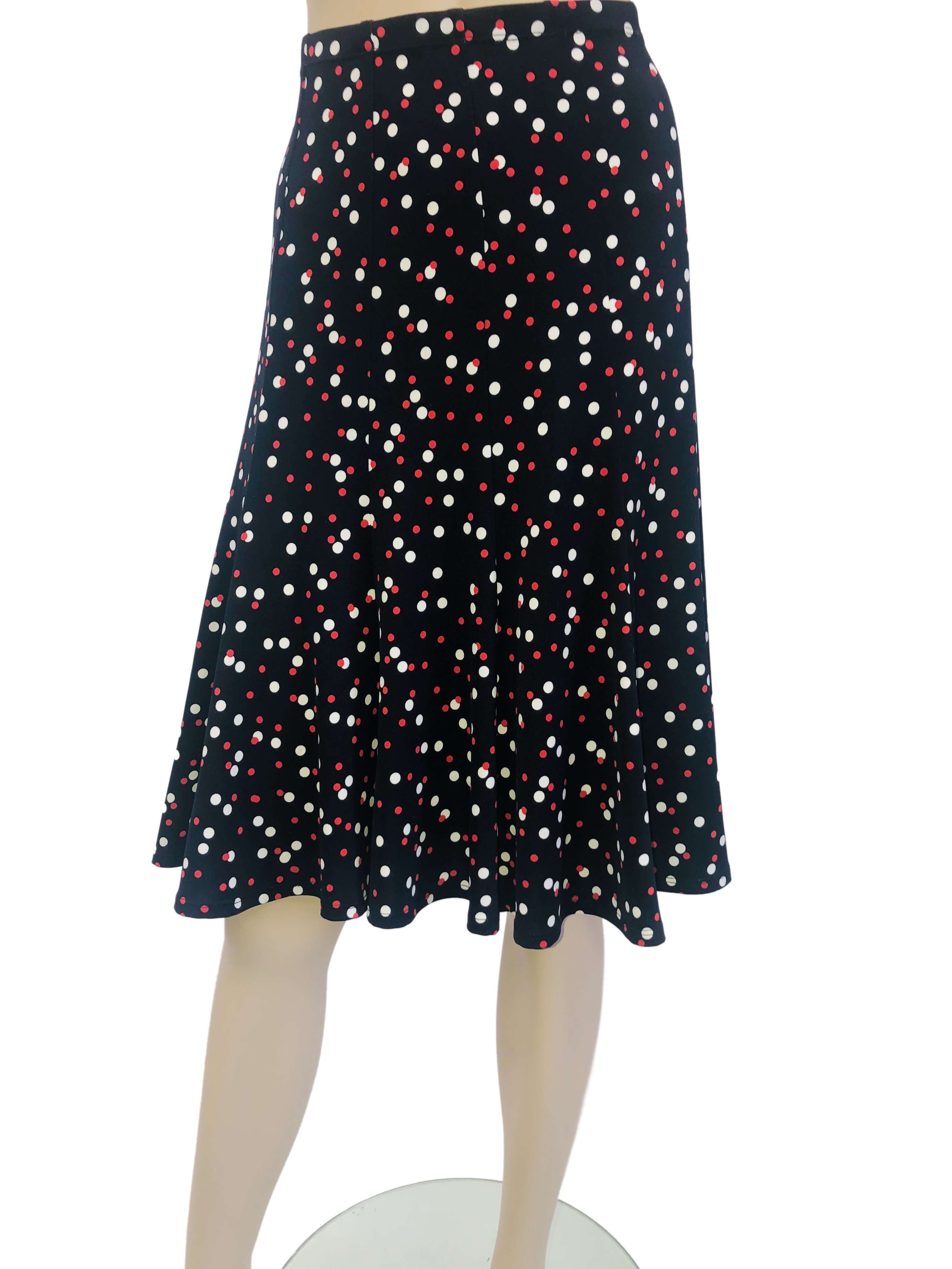 Women's Skirt Polka Dot Print - Made in Canada - Yvonne Marie - Yvonne Marie