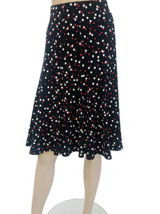 Women's Navy Polka Dot Skirt - Yvonne Marie