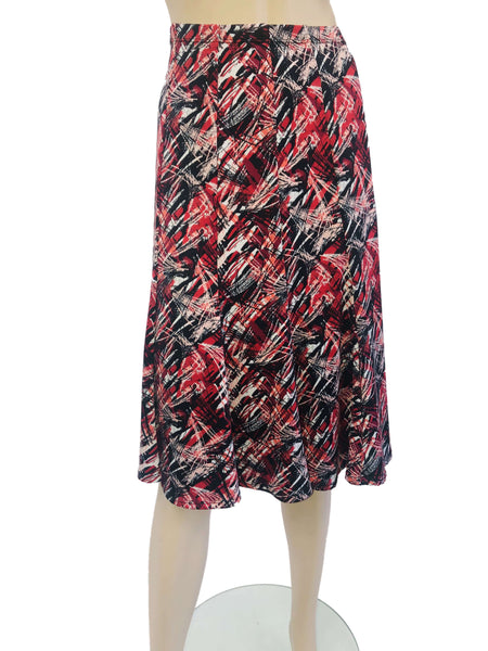 Women's Red Printed Skirt
