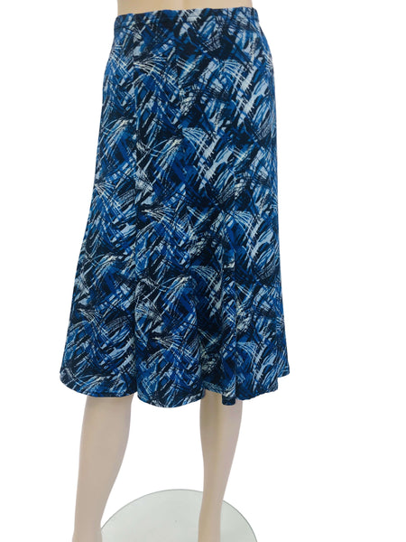 Women's Skirt Blue Geo print - Made in Canada