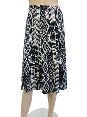 Women's Skirt Black and White Flattering Fit - Made in Canada - Yvonne Marie - Yvonne Marie