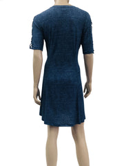 Women's Denim Blue Dress - Yvonne Marie