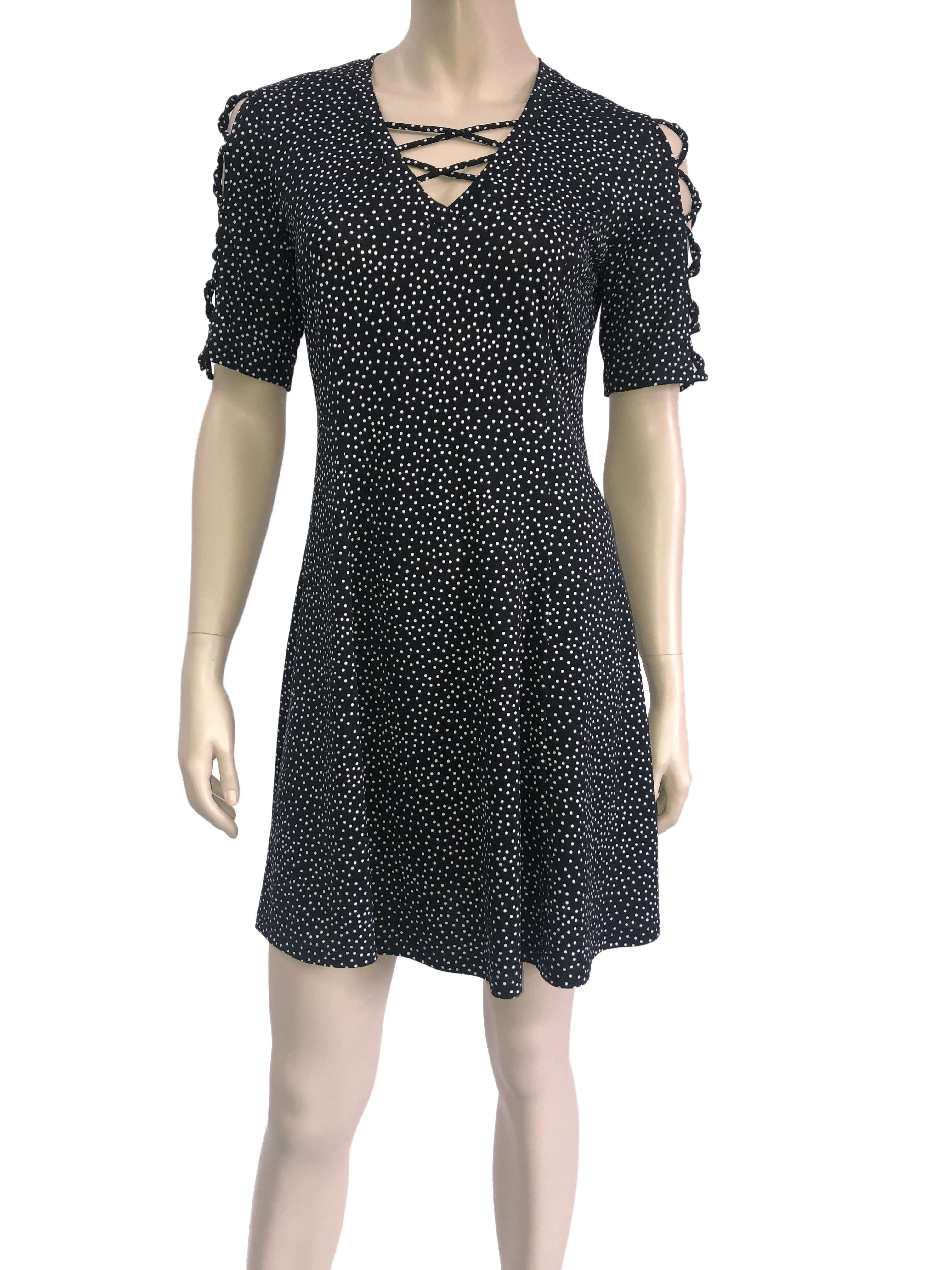 Women's Dresses on Sale Canada Designer Black Polka Dot Dress Quality and Great Fit - Yvonne Marie - Yvonne Marie