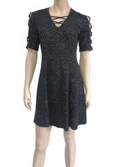 Women's Black Polka Dot Dress - Yvonne Marie