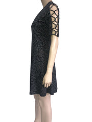 Women's Black Polka Dot Dress - Yvonne Marie - Yvonne Marie
