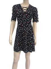 Women's Dresses Canada On Sale Polka Dot Dress Designer Original - Made in Canada - Yvonne Marie - Yvonne Marie