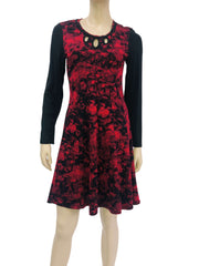 Women's Long Sleeve Red Dress - Yvonne Marie - Yvonne Marie