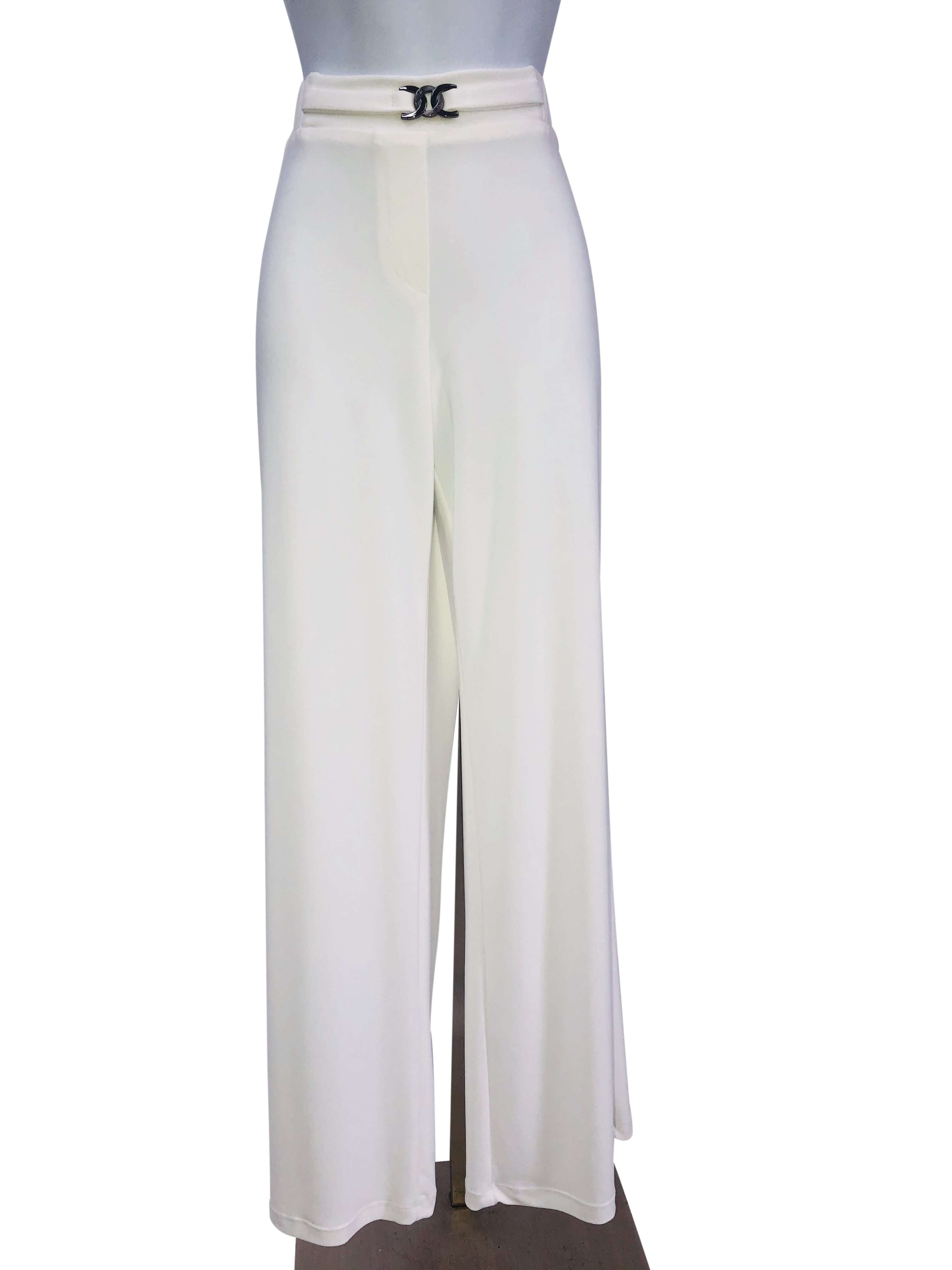 Women's Ivory Stretch Pants - Yvonne Marie