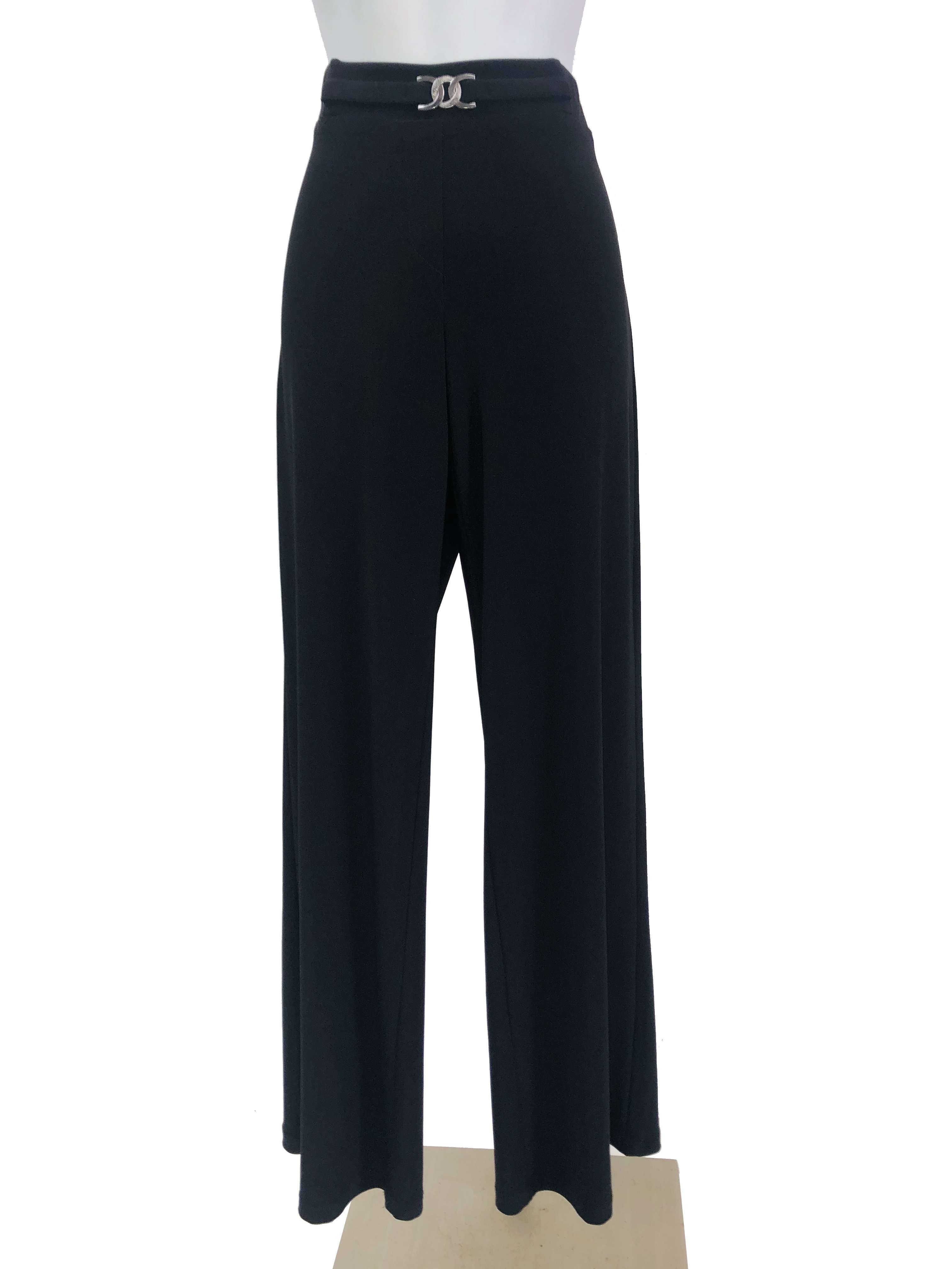 Women's Black Stretch Pants - Yvonne Marie - Yvonne Marie
