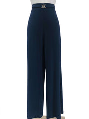 Women's Navy Stretch Pants - Yvonne Marie - Yvonne Marie