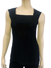 Women's Black Square Neck Camisole - Made in Canada - On Sale - Yvonne Marie - Yvonne Marie