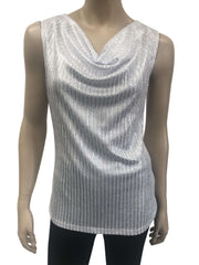 Womens Silver White Camisole - Yvonne Marie