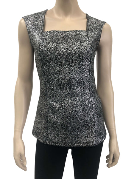 Womens Silver And Black Camisole