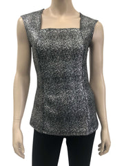 Womens Silver And Black Camisole - Yvonne Marie