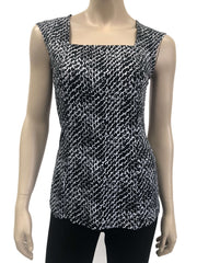 Womens Black And White Glitter Camisole - Yvonne Marie - Yvonne Marie