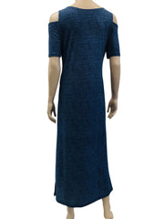 Women's Denim Blue Maxi Dress - Yvonne Marie