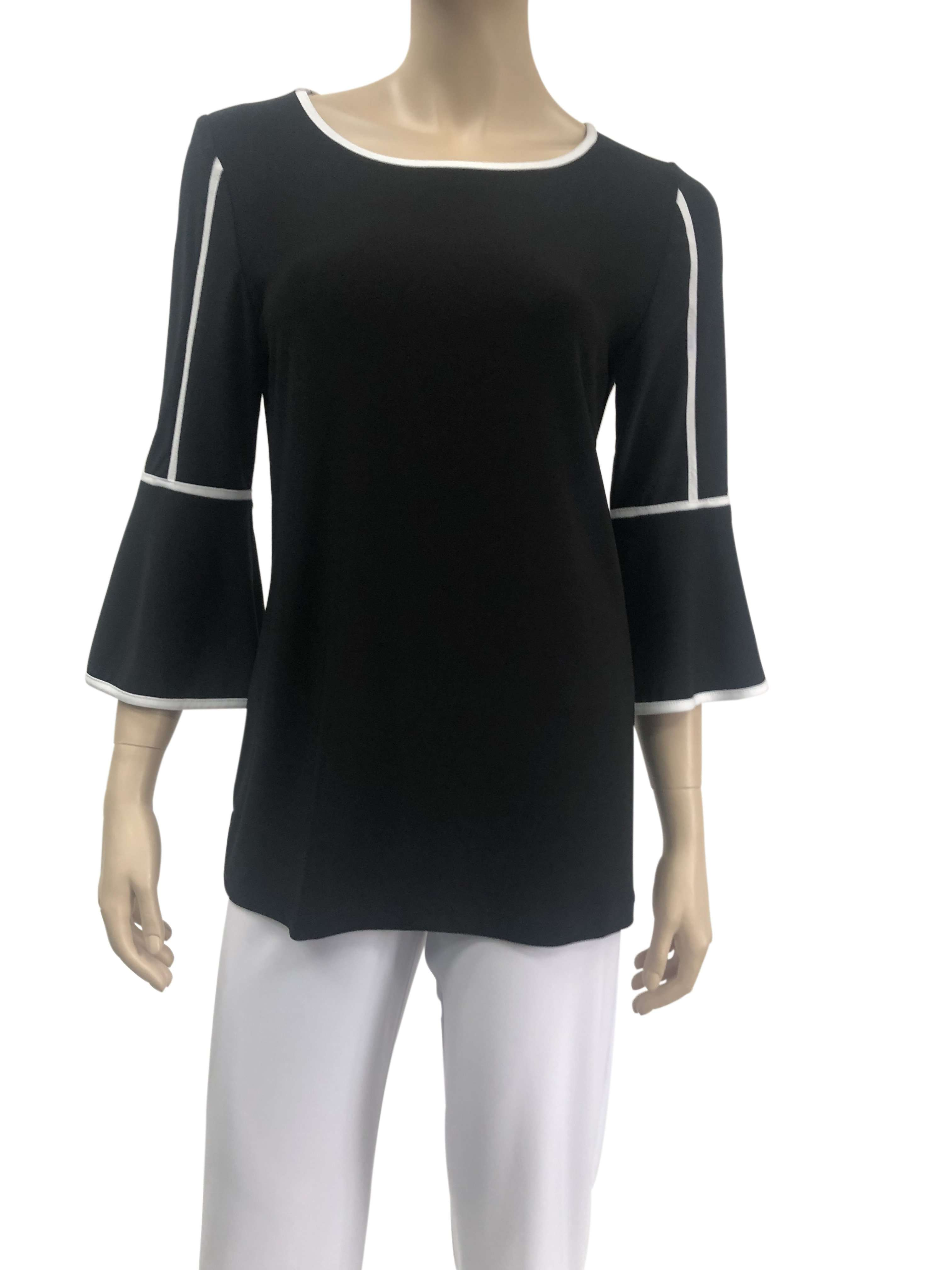 Womens Blouses Canada | Black And White Blouse | XL Size | On Sale | Ym Style - Yvonne Marie