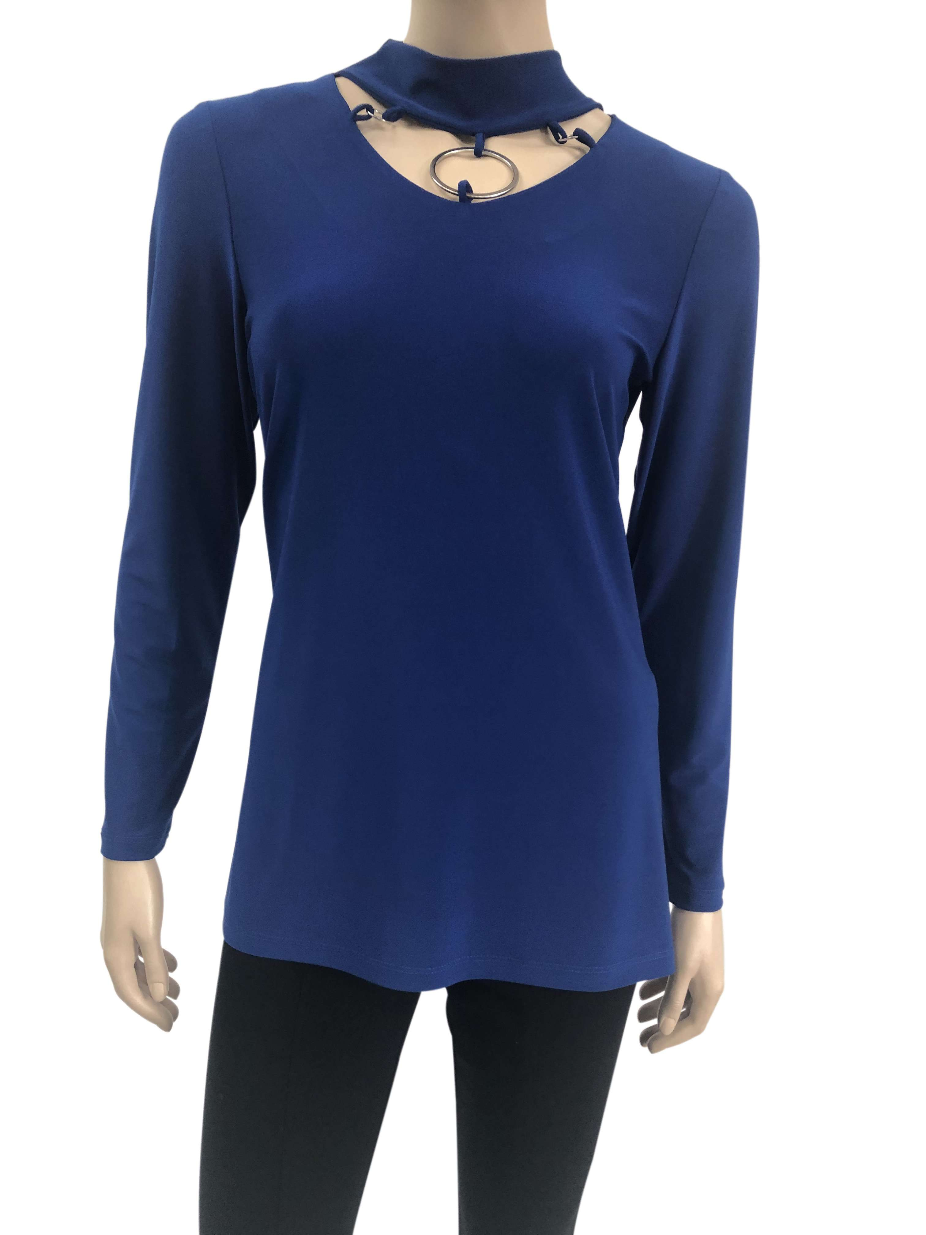Womens Blouses Canada | Royal Blue Long Sleeve Blouse | Ym Style - Yvonne Marie