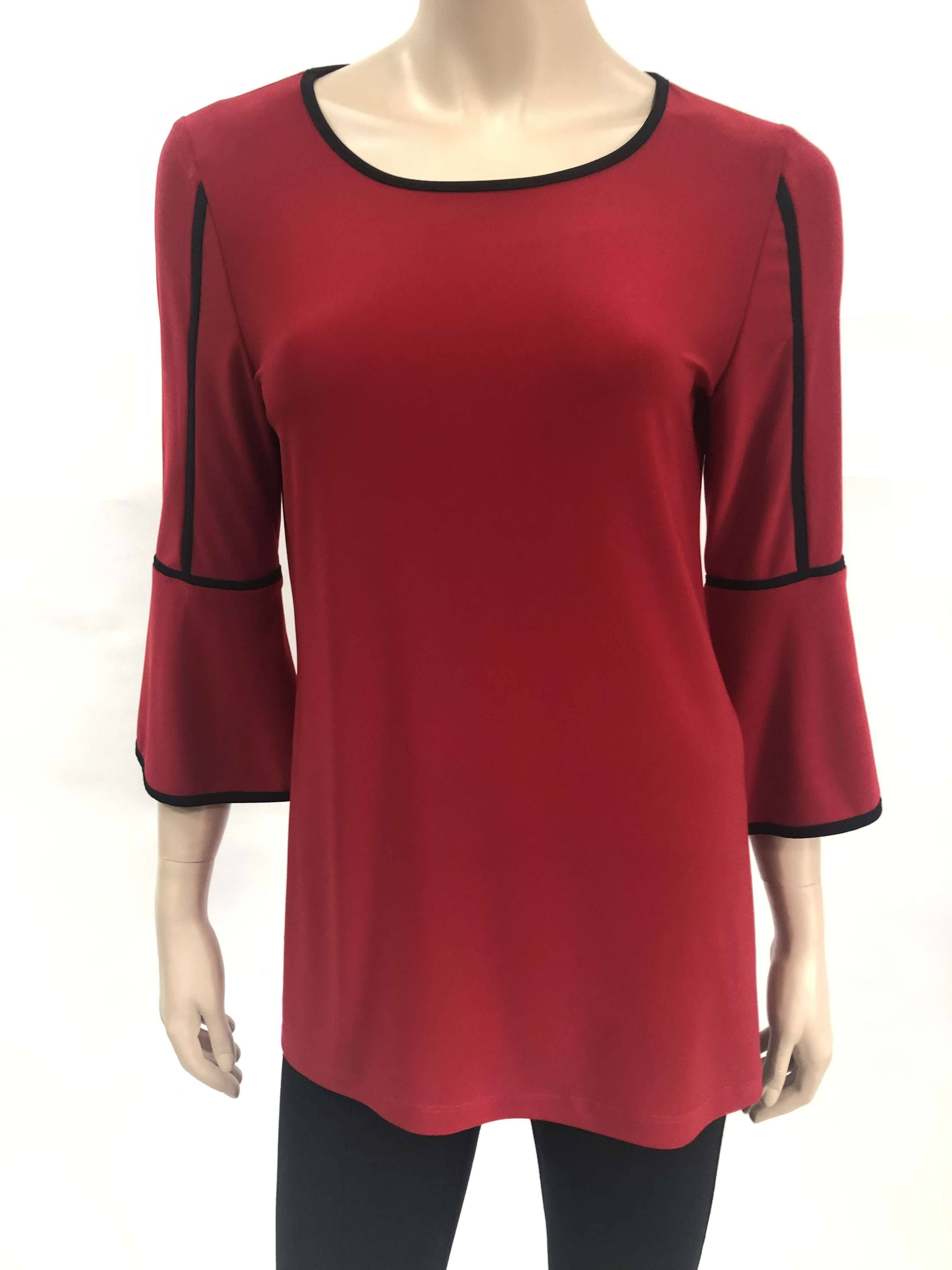 Women's Red Tops on Sale XLarge Size - Made in Canada - Yvonne Marie - Yvonne Marie