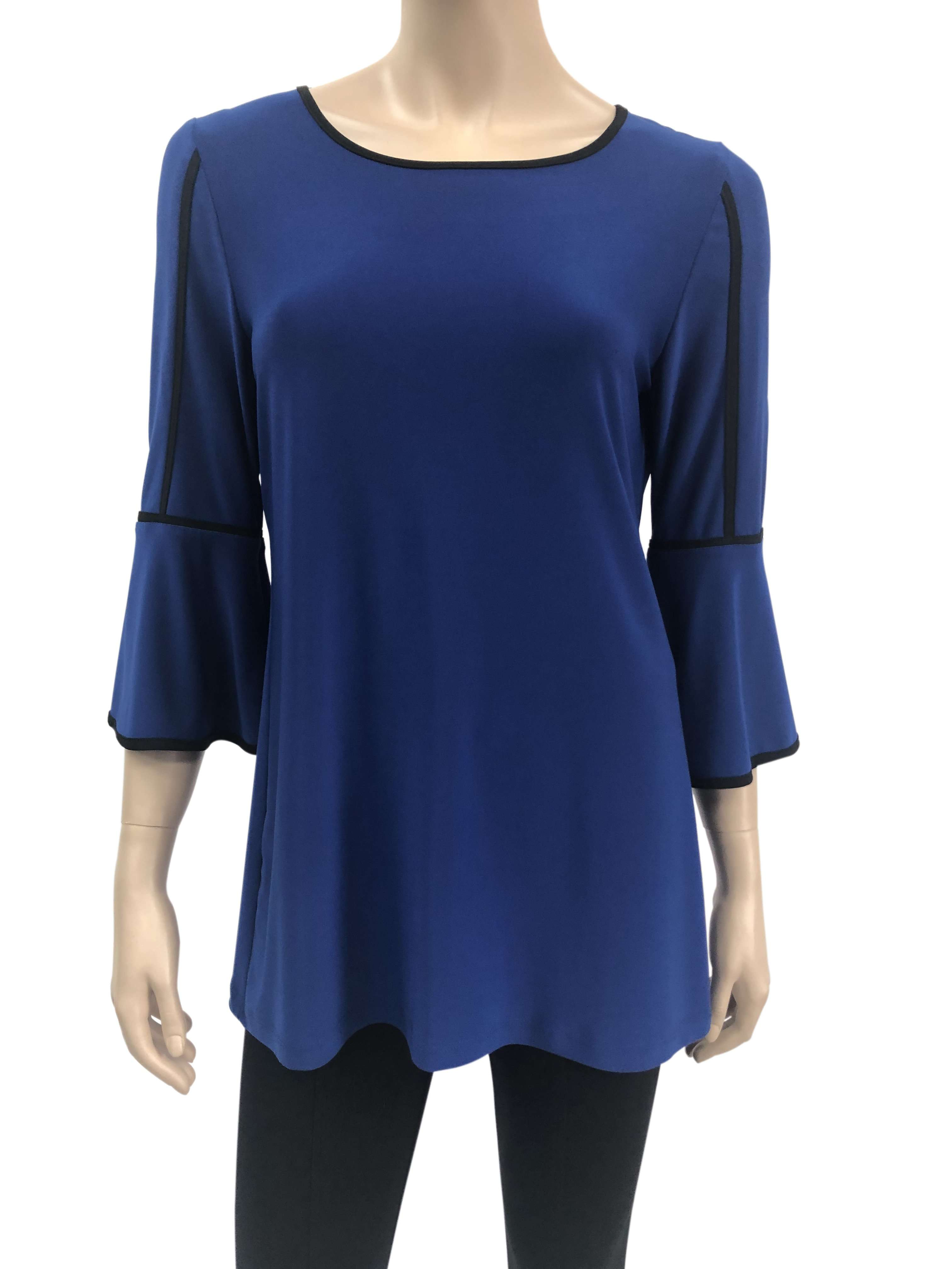 Women's Tops on Sale Royal Blue Flattering Fit - Made in Canada - Yvonne Marie - Yvonne Marie