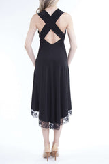 Women's Dresses Canada | Black Long Dress | Cut Out back | YM Style - Yvonne Marie