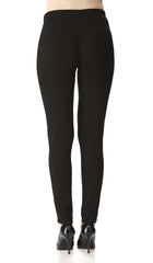Women's Black Pants With Mesh Inserts - Yvonne Marie - Yvonne Marie