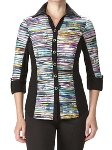 Women's Blouse Multi Color Flattering Design - Made in Canada - Yvonne Marie - Yvonne Marie