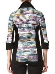 Women's Multi Color Blouse - Made In Canada - Yvonne Marie - Yvonne Marie