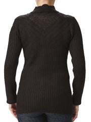 Women's Black Mock Neck Sweater On Sale - Yvonne Marie - Yvonne Marie