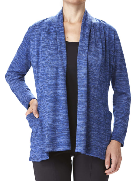 Women's Blue Cardigan With Pockets- Made In Canada- On Sale Now-Shop Local