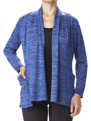 Women's Blue Cardigan With Pockets- Made In Canada- On Sale Now-Shop Local - Yvonne Marie - Yvonne Marie