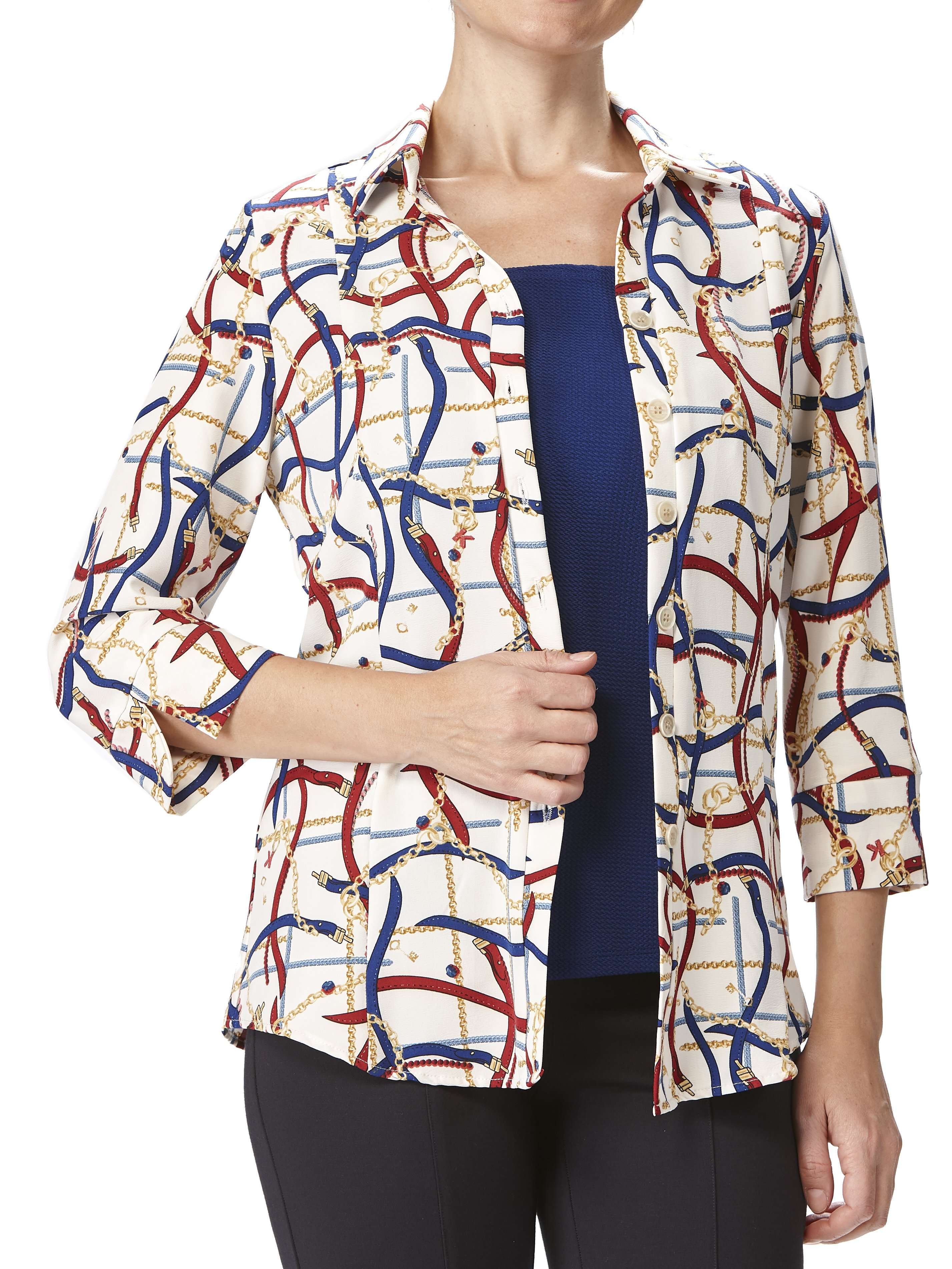 Women's Blouses on Sale Designer Print - Made in Canada - Yvonne Marie - Yvonne Marie
