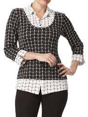 Women's Black And White All In One Top - Yvonne Marie - Yvonne Marie