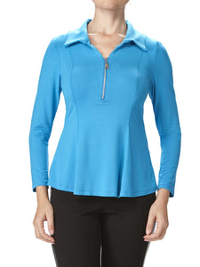 Women's Turquoise Blouse - Made In Canada - Yvonne Marie - Yvonne Marie