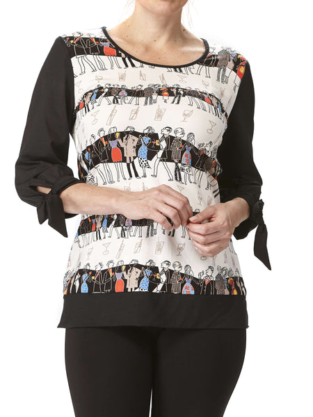 Women's Top With Fun Ladies Print - Made In Canada