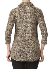 Women's Animal Print Top - Made In Canada - Yvonne Marie - Yvonne Marie