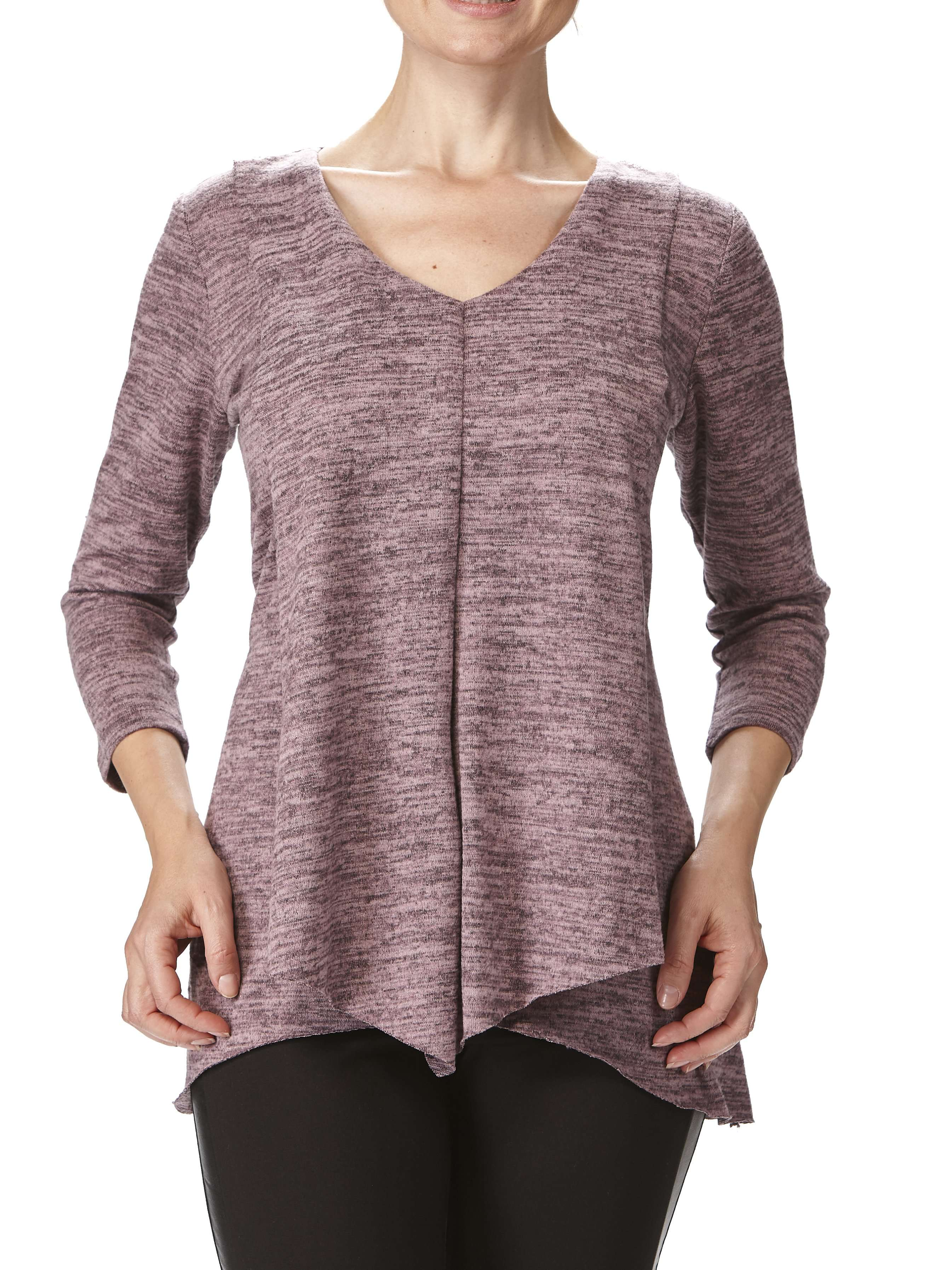 Women's Rose Flyaway Tunic Top Flattering Fit - Made in Canada - Yvonne Marie - Yvonne Marie