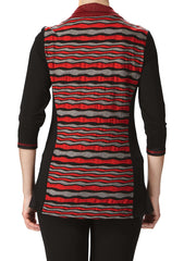 Women's Sweaters on Sale Red and Black Designer Quality - Made in Canada - Yvonne Marie - Yvonne Marie