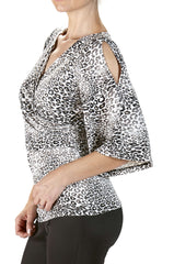 Animal Print Top-Soft knit Fabric-Super Flattering Style - Yvonne Marie