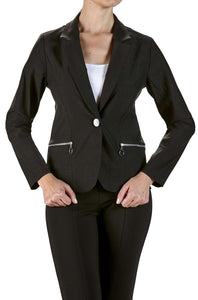Women's Black Business Blazer - Yvonne Marie - Yvonne Marie